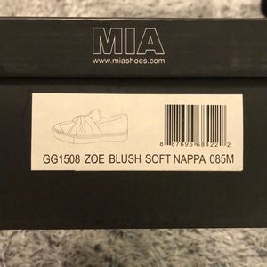 MIA Shoes - MIA Blush Pink Zoe Sneakers